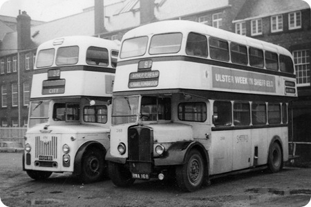 Sheffield Corporation AEC Regent III and Leyland Titan PD2