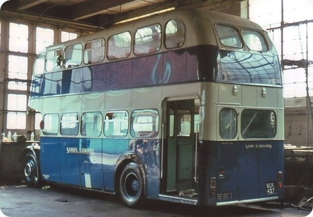 Ex Ribble BCK 427 in the Samuel Ledgard paint shop