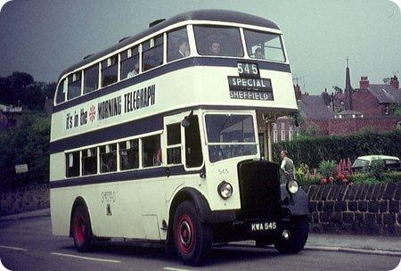 Sheffield Corporation - Leyland Titan PD2 - KWA 545 - 545