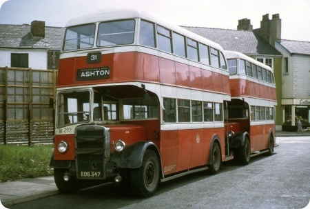 Stockport Corporation - Leyland Titan PD 2 - EDB 547 - 293