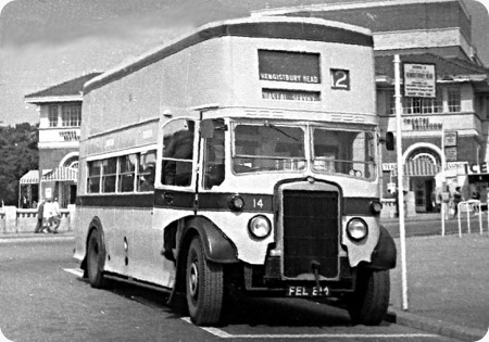 Bournemouth Corporation - Leyland Titan TD5 - FEL 214 - 14