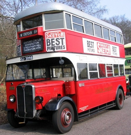 Old Bus Photos » London Transport – AEC Regent 1 – GJ 2098 ...