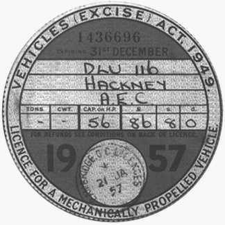 DLU 116 tax disc