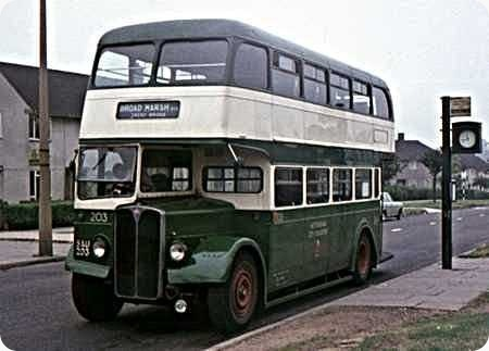 Nottingham City Transport - AEC Regent III - SAU 203 -203