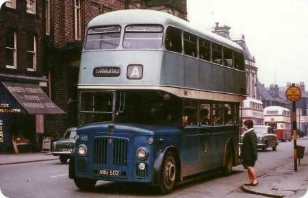 Oldham Corporation - Leyland Titan PD2 - NBU 502 - 402