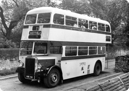 Sheffield Corporation - Leyland Titan PD2 - NWE 561 - 361