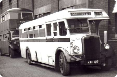 Sheffield Corporation – Leyland Tiger – KWJ 103 – 103