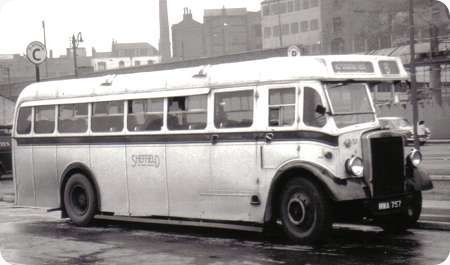 Sheffield Corporation – Leyland Tiger – MWA 757 – 57