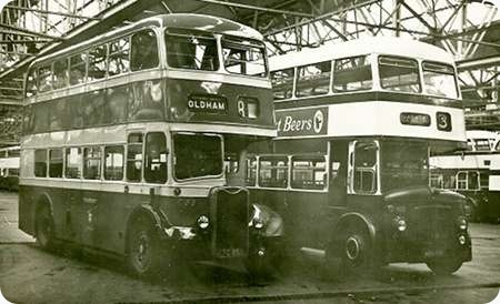 Oldham Corporation - Leyland Titan PD2 - NBU 508 - 408