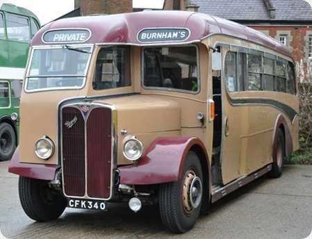 Burnham's Coaches - AEC Regal III - CFK 340