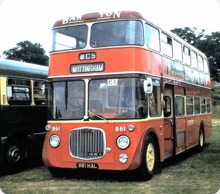 Barton Transport - Dennis Loline - 861 HAL - 861